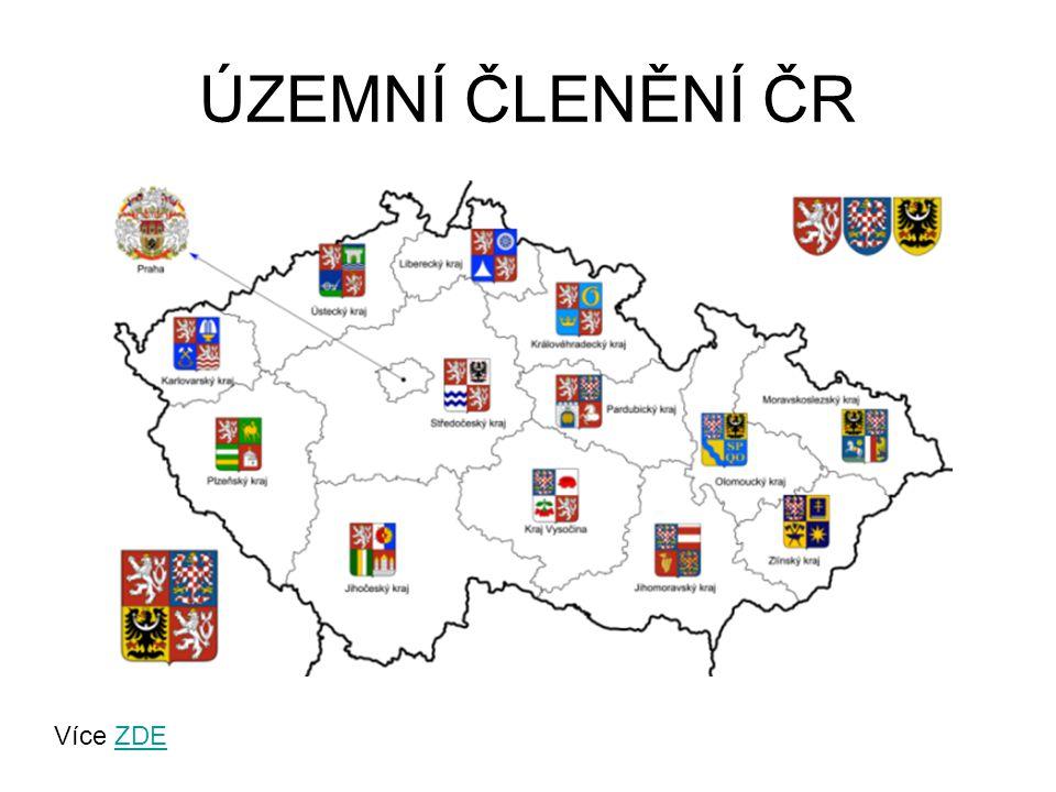 ÚZEMNÍ ČLENĚNÍ ČR Více ZDE