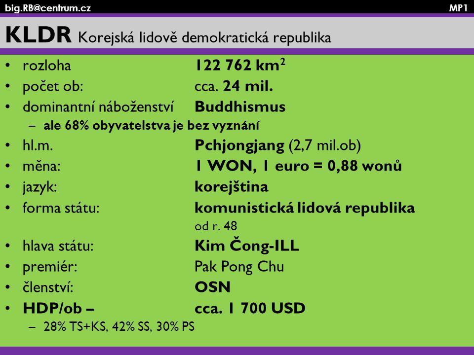 KLDR Korejská lidově demokratická republika