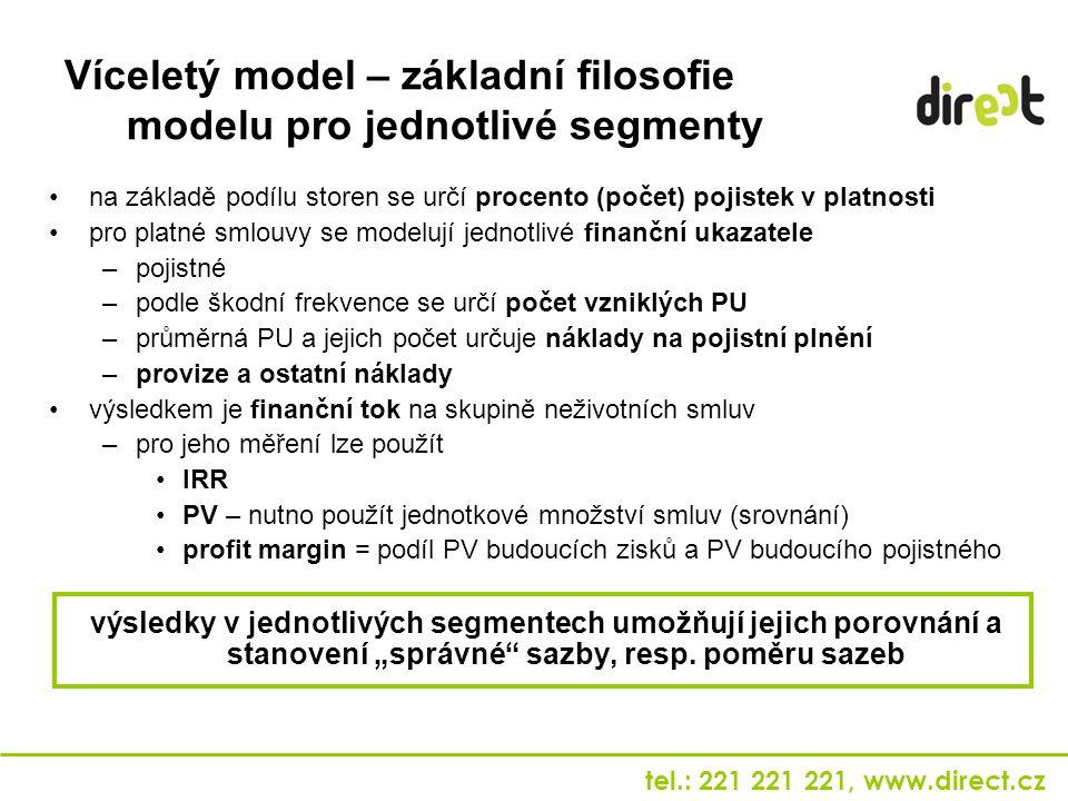 Víceletý model – základní filosofie modelu pro jednotlivé segmenty