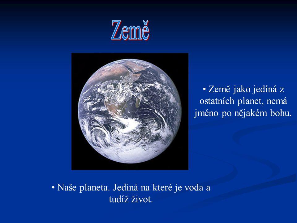 Země Země jako jedíná z ostatních planet, nemá jméno po nějakém bohu.