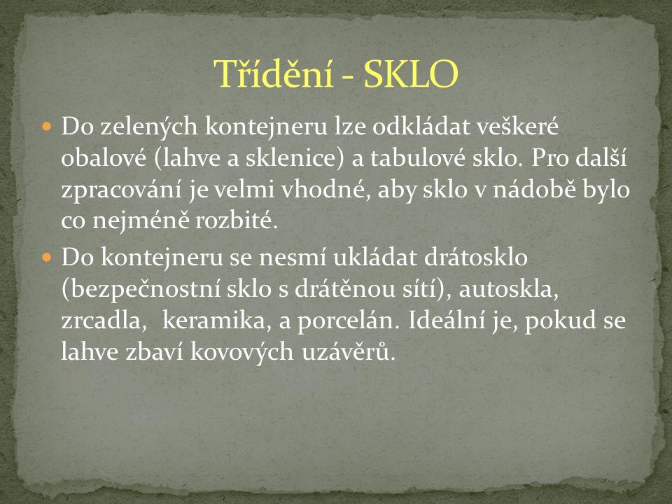 Třídění - SKLO
