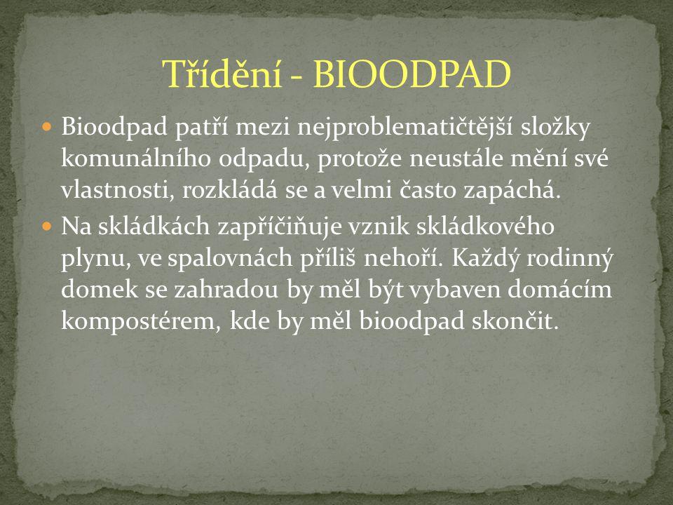 Třídění - BIOODPAD