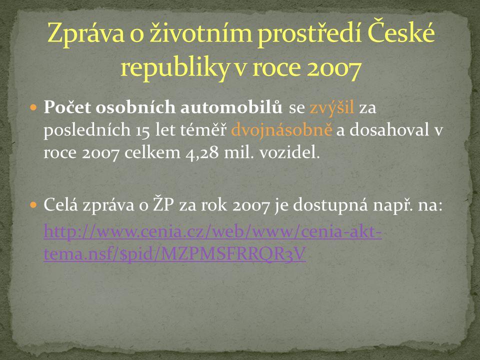Zpráva o životním prostředí České republiky v roce 2007