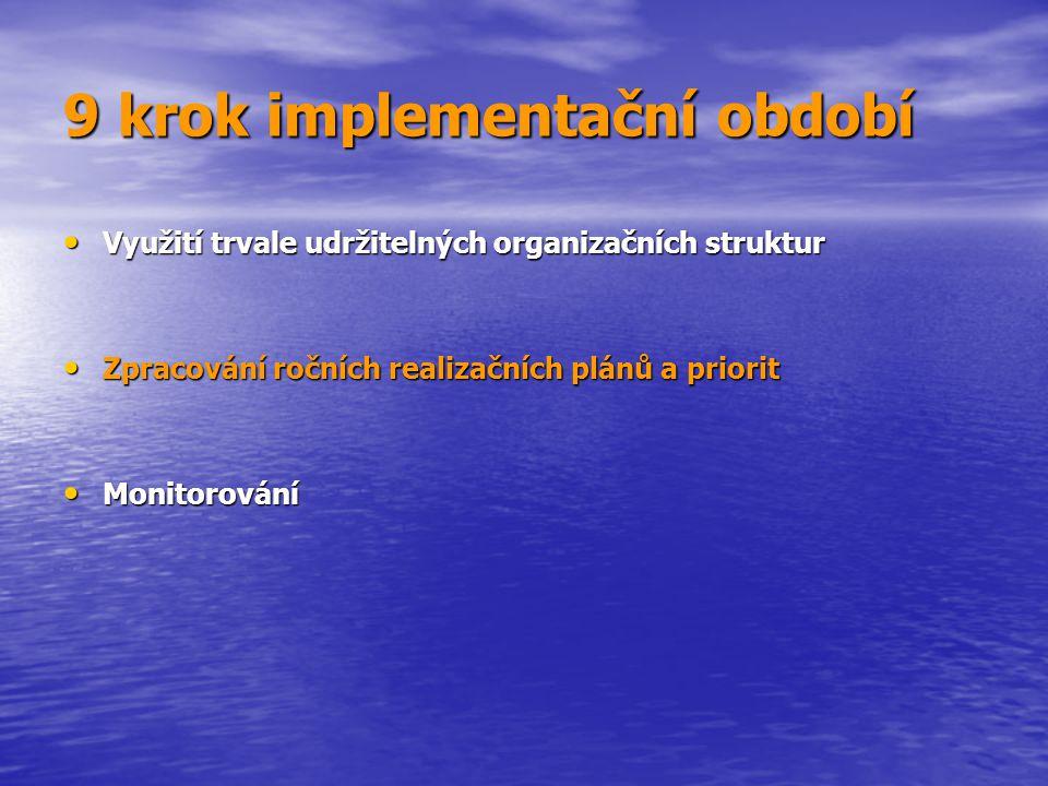 9 krok implementační období