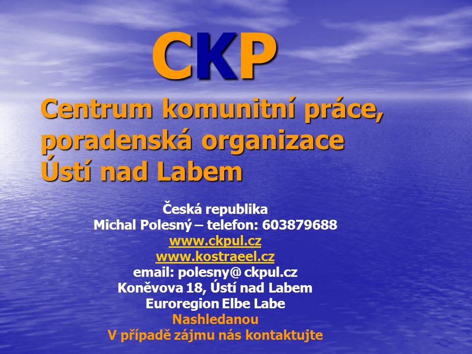 CKP Centrum komunitní práce, poradenská organizace Ústí nad Labem