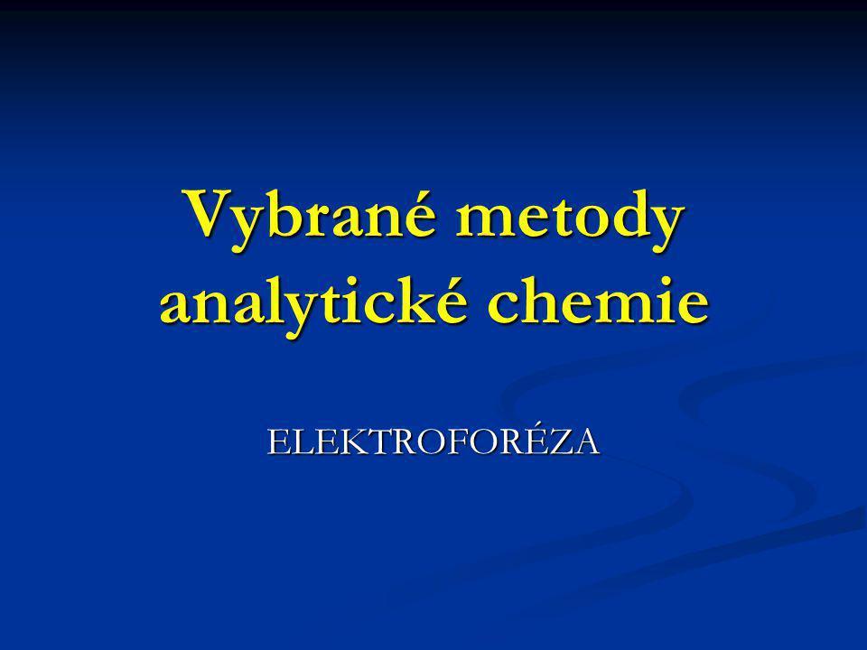 Vybrané metody analytické chemie