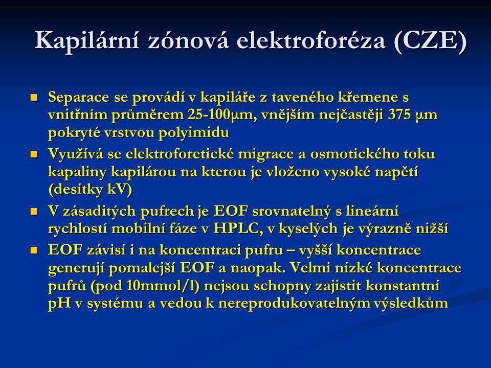 Kapilární zónová elektroforéza (CZE)