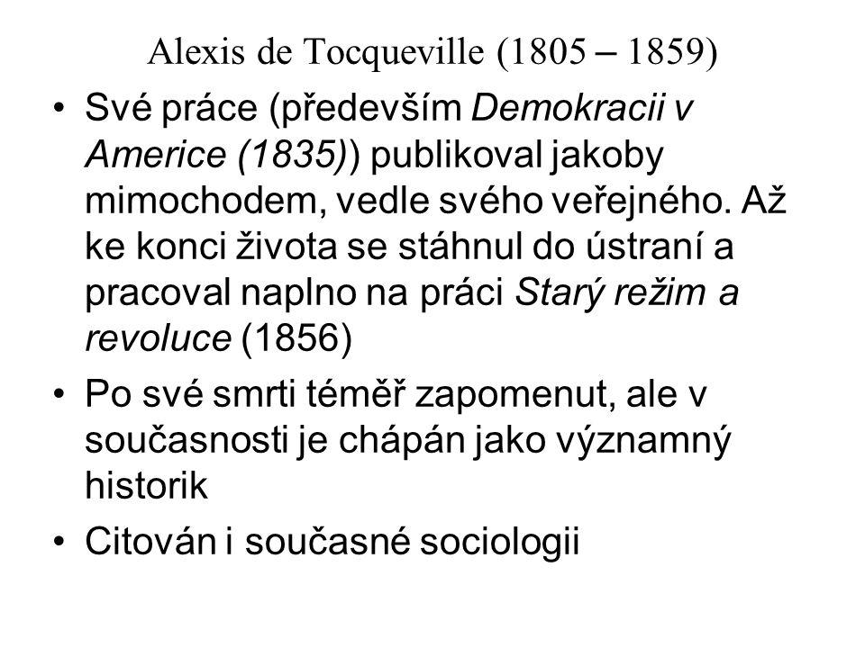 Alexis de Tocqueville (1805 – 1859)