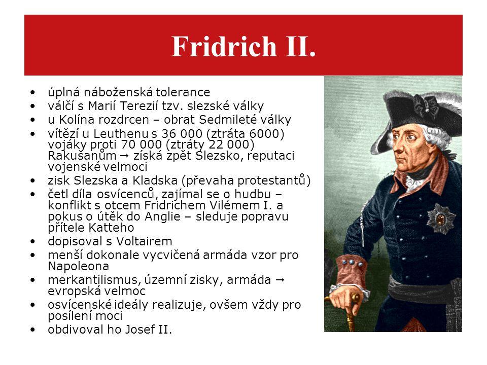 Fridrich II. úplná náboženská tolerance