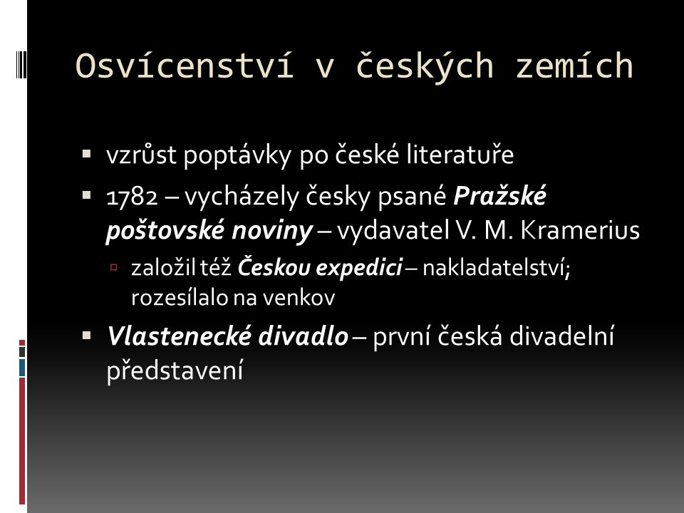 Osvícenství v českých zemích