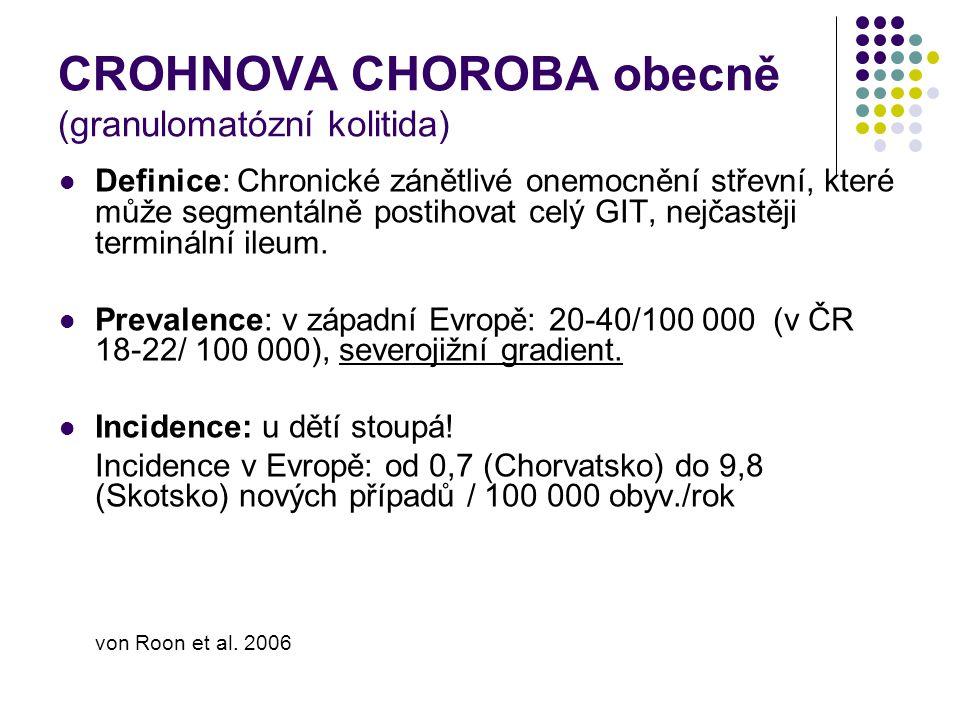 CROHNOVA CHOROBA obecně (granulomatózní kolitida)
