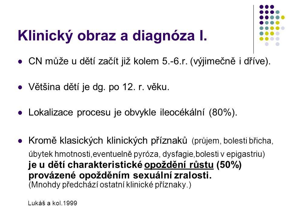 Klinický obraz a diagnóza I.