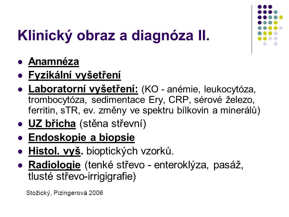 Klinický obraz a diagnóza II.