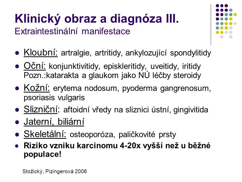 Klinický obraz a diagnóza III. Extraintestinální manifestace
