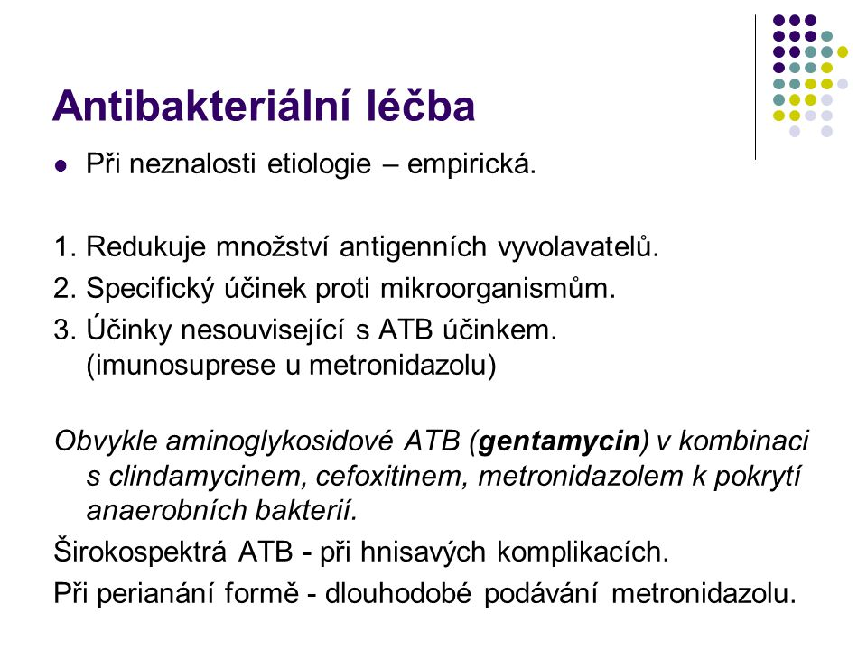 Antibakteriální léčba