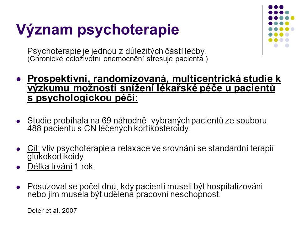 Význam psychoterapie