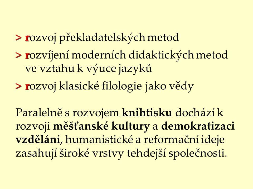 rozvoj překladatelských metod