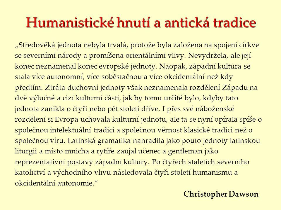 Humanistické hnutí a antická tradice