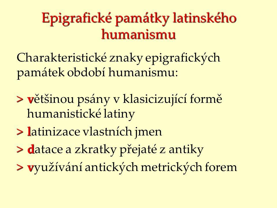 Epigrafické památky latinského humanismu