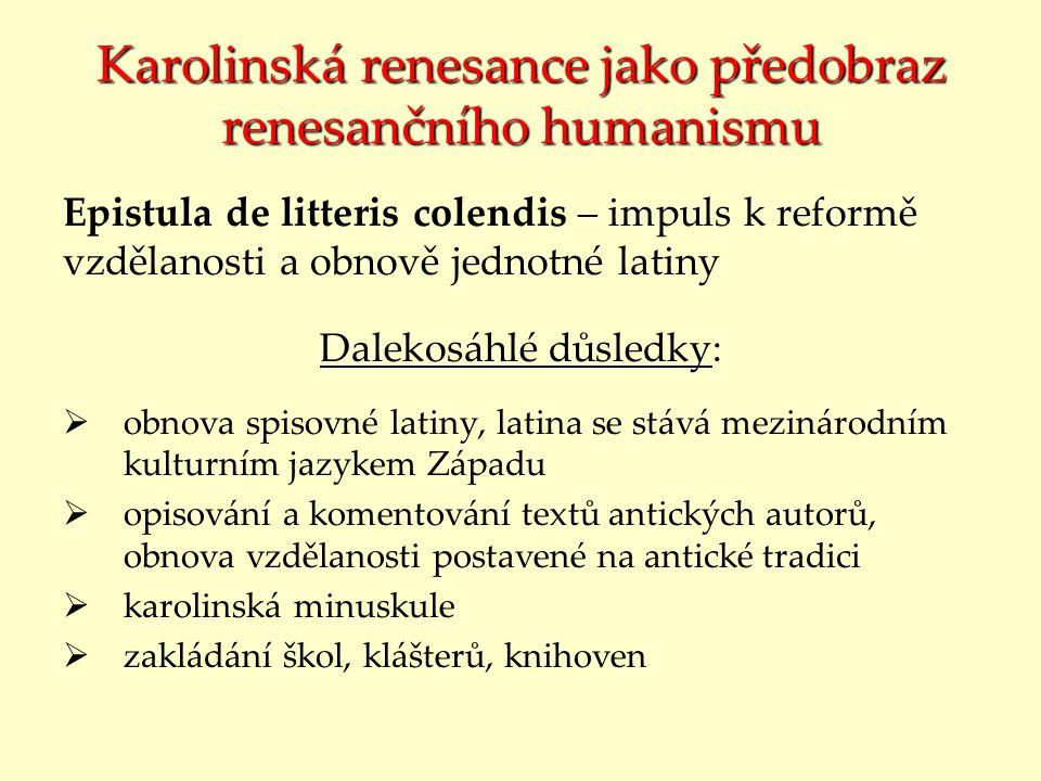 Karolinská renesance jako předobraz renesančního humanismu