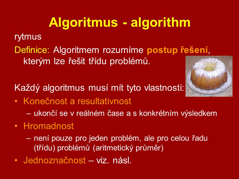 Algoritmus - algorithm
