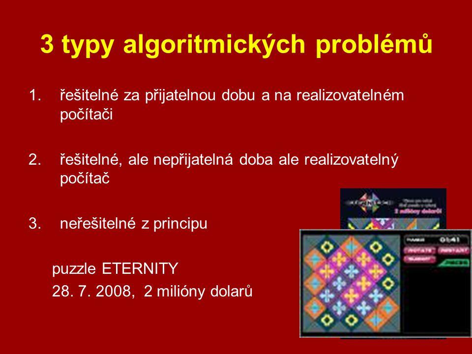 3 typy algoritmických problémů