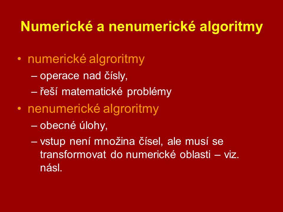 Numerické a nenumerické algoritmy