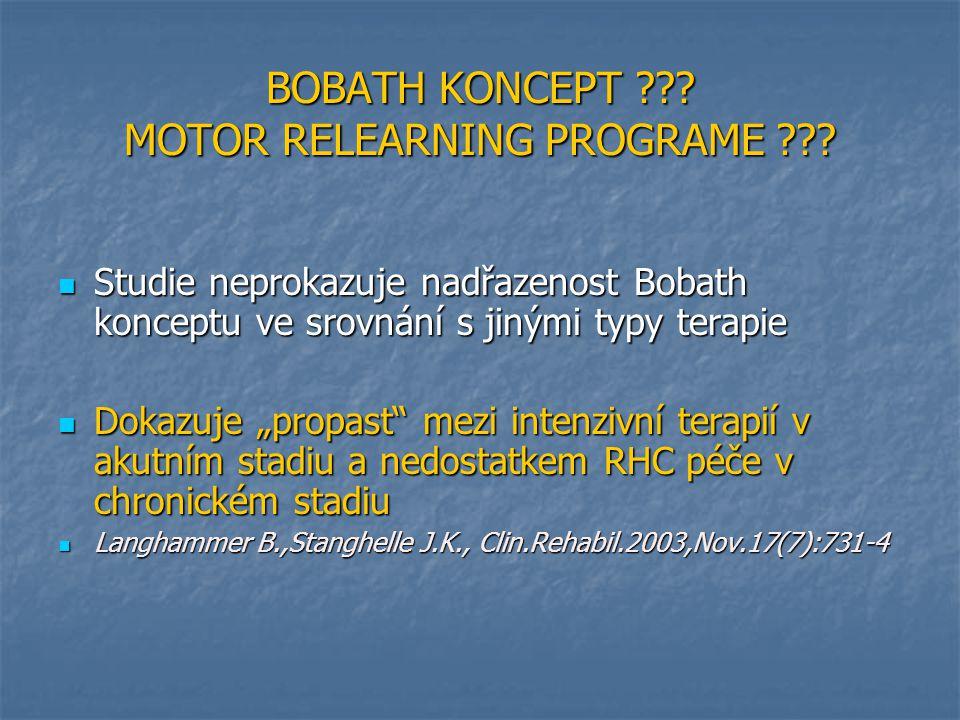 BOBATH KONCEPT MOTOR RELEARNING PROGRAME