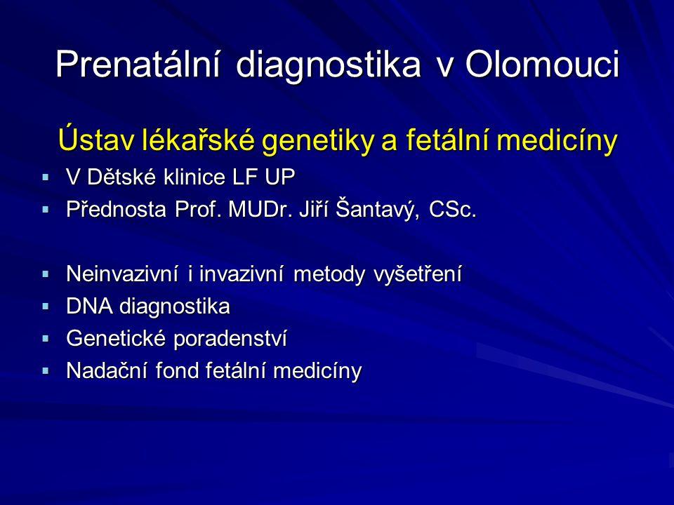 Prenatální diagnostika v Olomouci