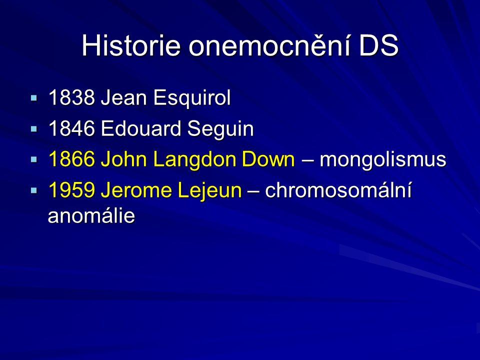 Historie onemocnění DS