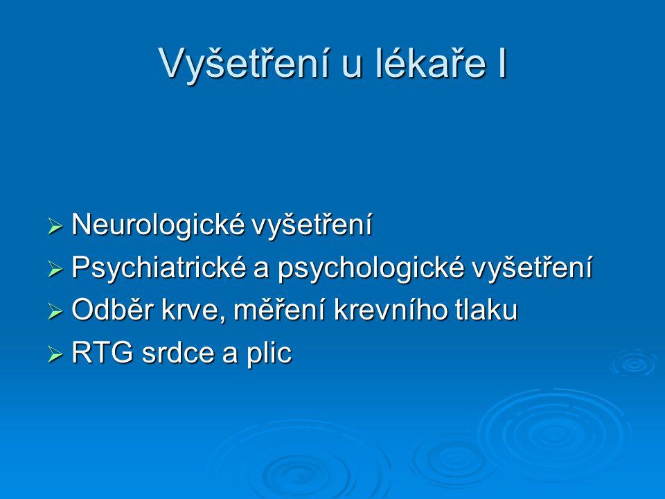 Vyšetření u lékaře I Neurologické vyšetření