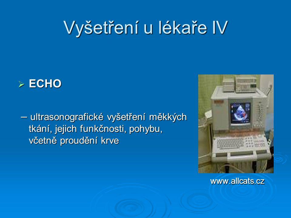 Vyšetření u lékaře IV ECHO