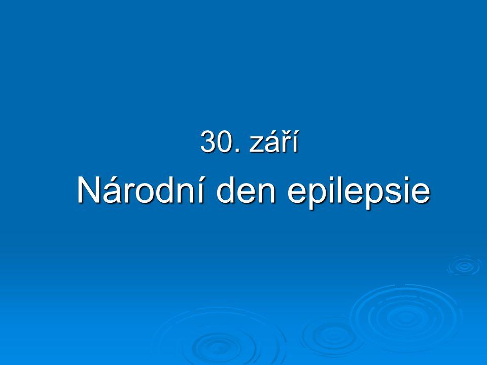 30. září Národní den epilepsie