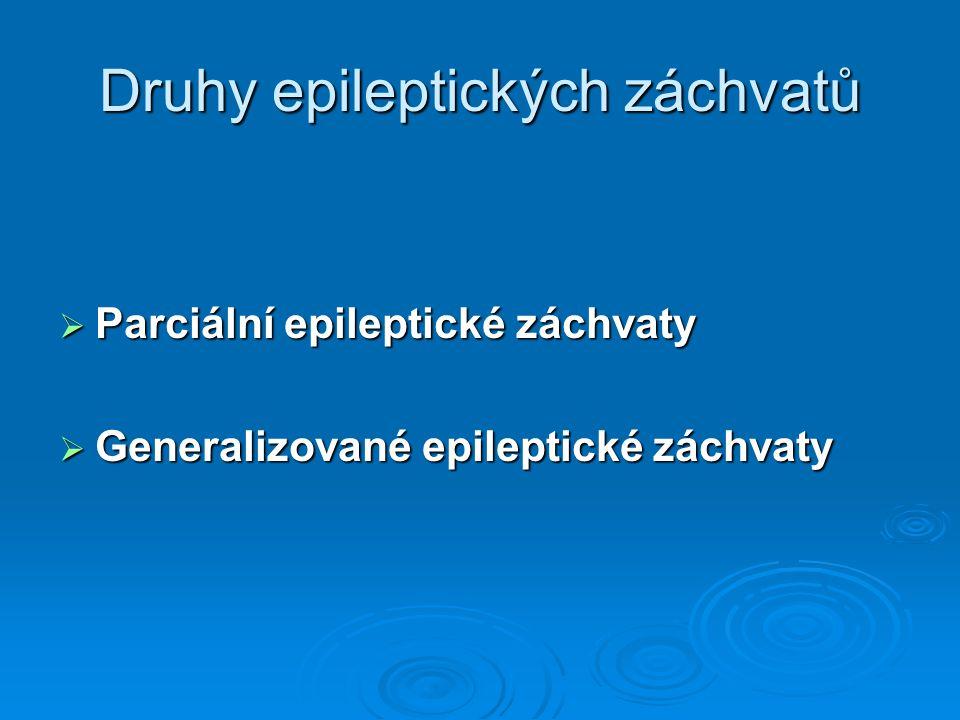 Druhy epileptických záchvatů