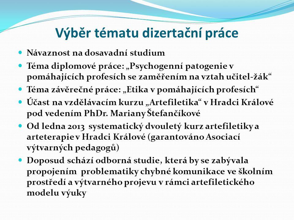 Výběr tématu dizertační práce