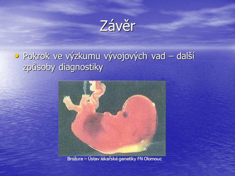 Brožura – Ústav lékařské genetiky FN Olomouc