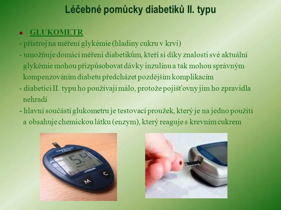 Léčebné pomůcky diabetiků II. typu