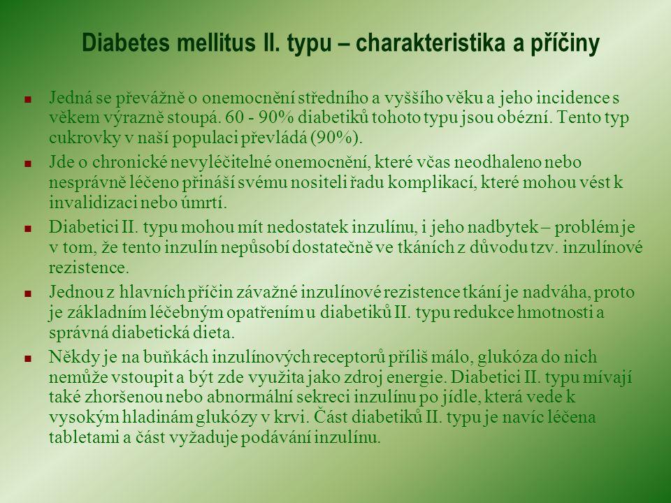 Diabetes mellitus II. typu – charakteristika a příčiny