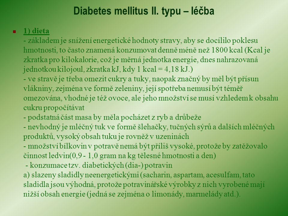 Diabetes mellitus II. typu – léčba