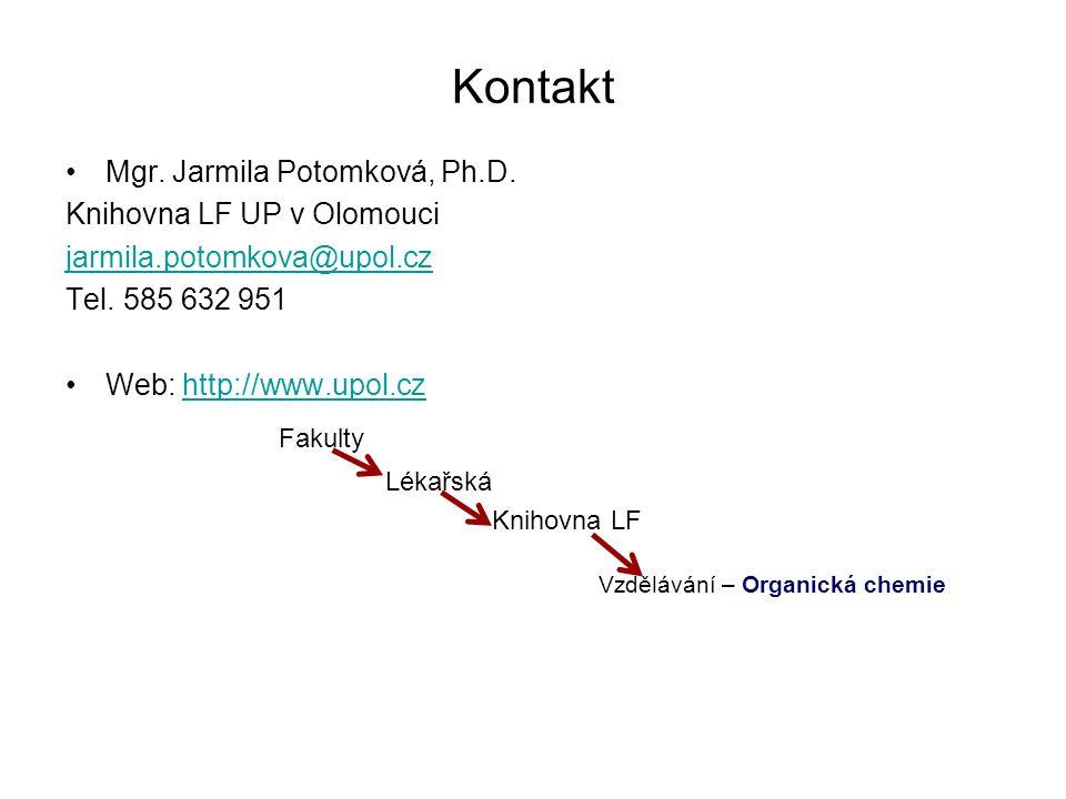 Vzdělávání – Organická chemie