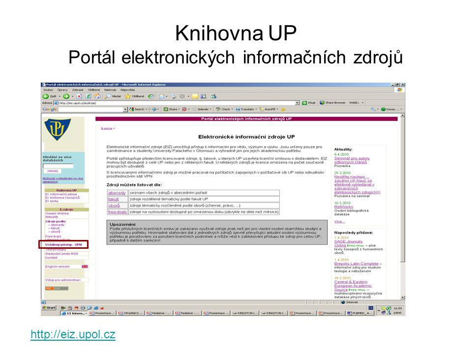 Knihovna UP Portál elektronických informačních zdrojů