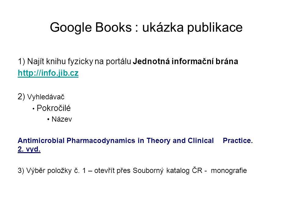 Google Books : ukázka publikace