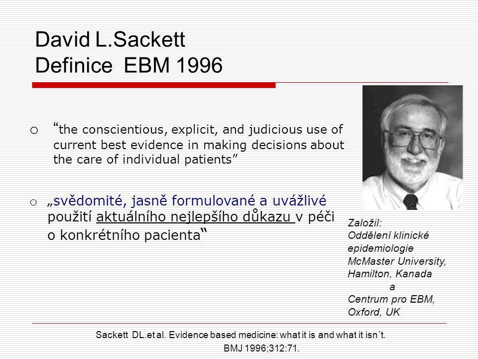 David L.Sackett Definice EBM 1996