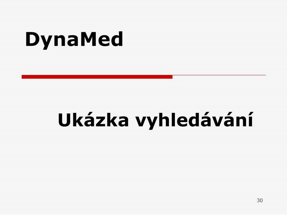 DynaMed Ukázka vyhledávání