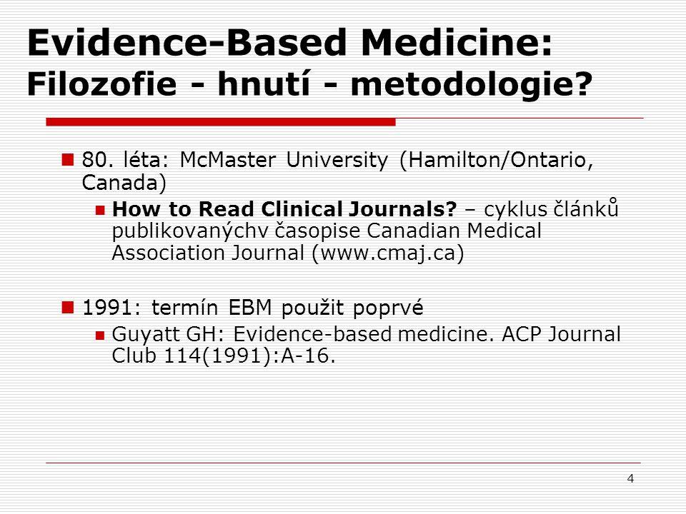 Evidence-Based Medicine: Filozofie - hnutí - metodologie