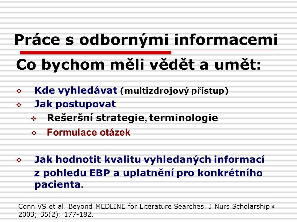 Práce s odbornými informacemi