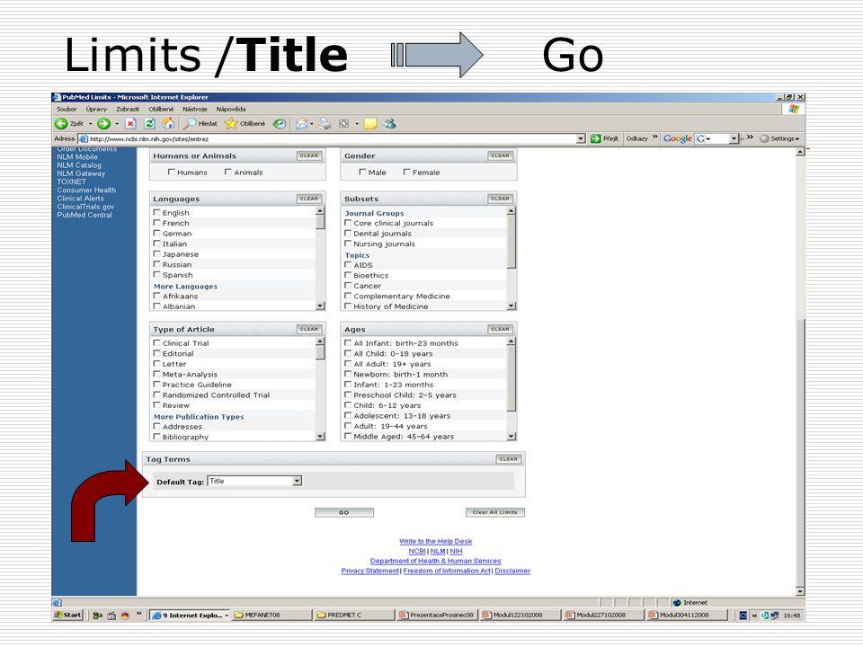 Limits /Title Go