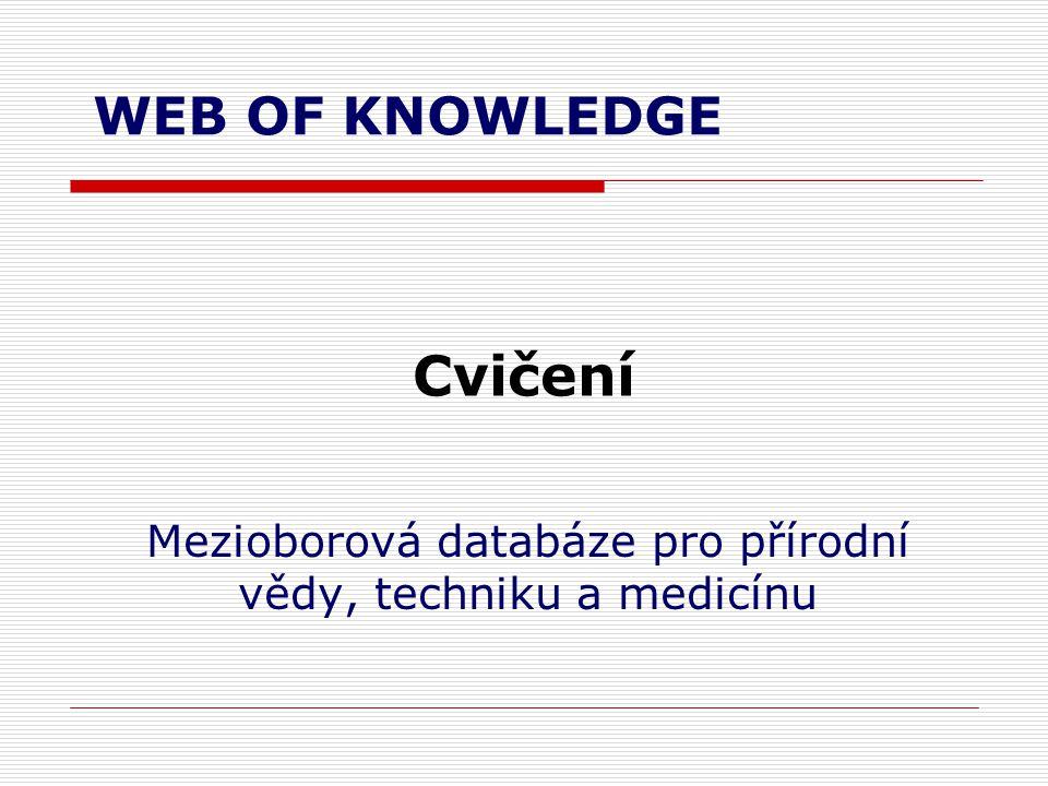 Mezioborová databáze pro přírodní vědy, techniku a medicínu