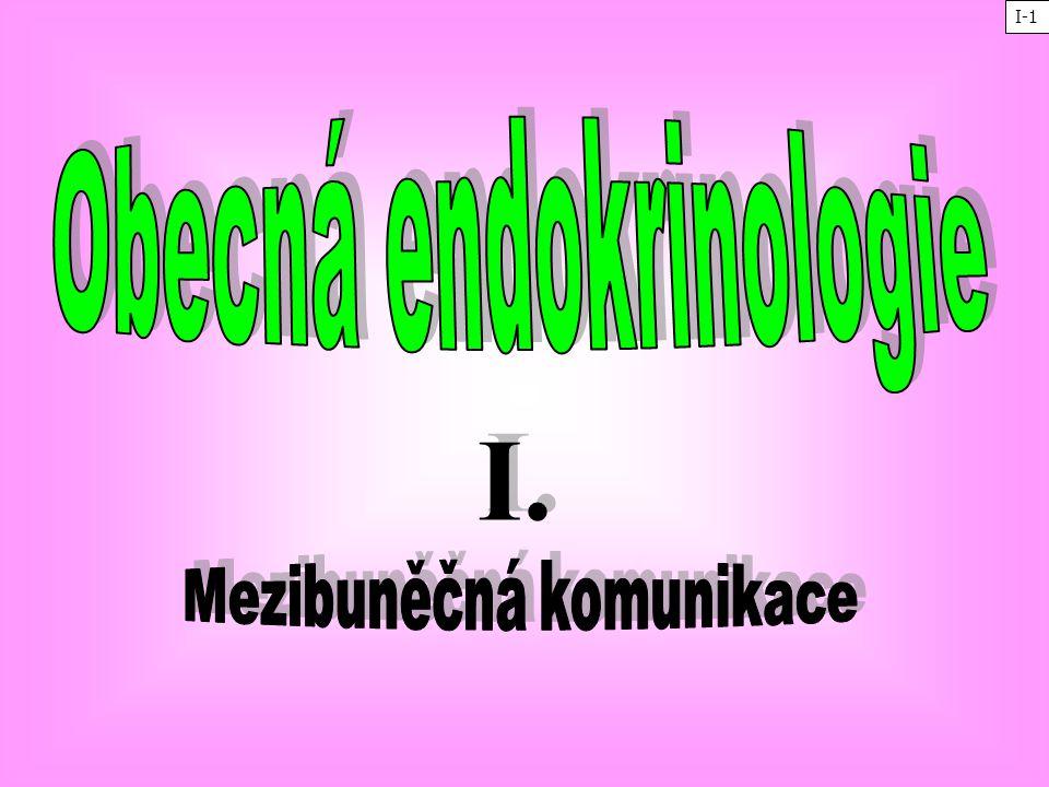 Obecná endokrinologie Mezibuněčná komunikace
