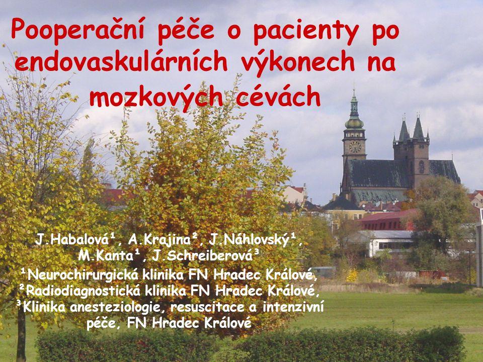 J.Habalová¹, A.Krajina², J.Náhlovský¹, M.Kanta¹, J.Schreiberová³